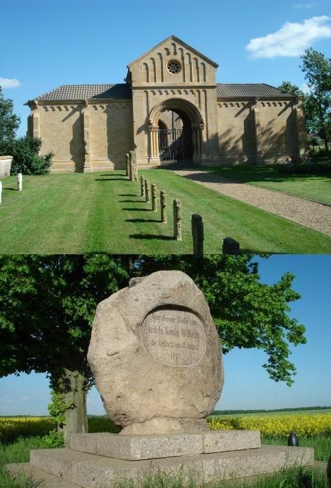 Halle du Souvenir de Gravelotte et monument sur le champ de bataille © france-voyage.com