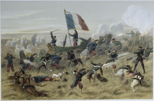 La bataille de Gravelotte le 16 août 1870, d'après Jules Descartes Ferat © RMN-Grand Palais - Agence Bulloz