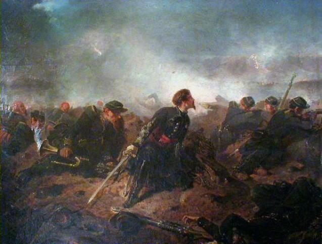 Avant l'attaque, Alphonse de Neuville, 1858, acquis en 1975 par la Société des amis des musées de Saint-Omer <br>© Musée de l'Hôtel Sandelin - Saint-Omer - M0650