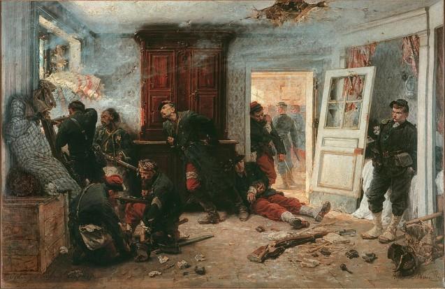 Combat à Balan ou La dernière cartouche 1873, parAlphonse Marie Deneuville © RMN-Grand Palais / Hervé Lewandowski