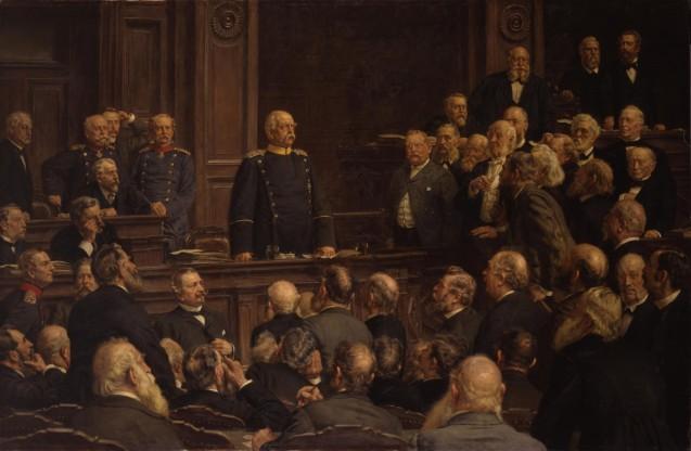 Bismarck à la séance parlementaire du 6 février 1888 © Deutsches Historisches Museum, Berlin