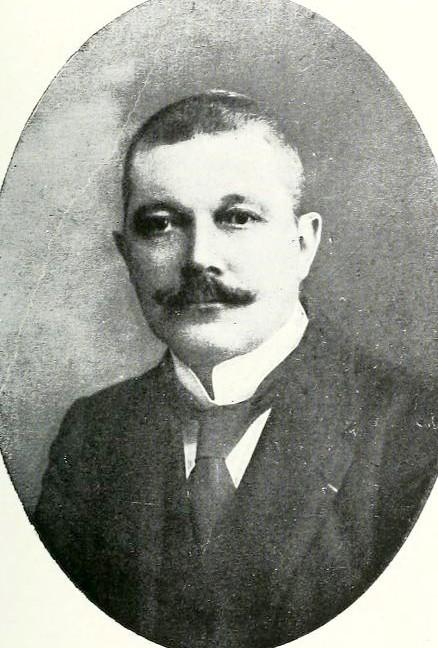 Georges Legrain, 1865-1917, égyptologue, inspecteur en chef des antiquités à Louxor.<br>Source : Wikipedia/Annales du Service des antiquités de l'Egypte», Vol. 19