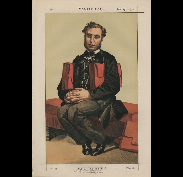 Émile Ollivier, « L'Empire parlementaire », par James Tissot, <br>paru dans <i>Vanity Fair</i> le 15 janvier 1870 © National Portrait Gallery