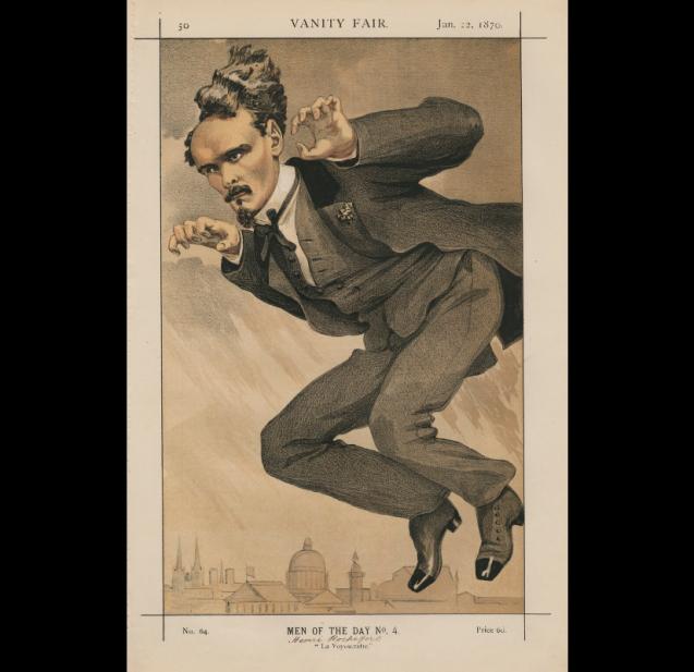 Henri Rochefort par James Tissot,<br><i>Vanity Fair</i> du 22 janvier 1870 © National Portrait Gallery