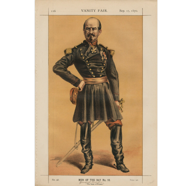 Le général Trochu par James Tissot <br>pour le <i>Vanity Fair</i> du 17 septembre 1870 © National Portrait Gallery