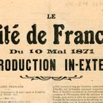 Document > Préliminaires de paix (Versailles, le 26 février 1871) et Traité de Francfort (10 mai 1871)