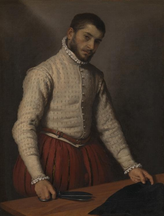 "Giovanni Battista Moroni, ""Il tagliapanni"" (Le tailleur), 1565-1570 <br>© National Gallery, Londres"