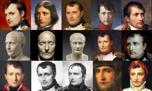 Sélection de portraits de Napoléon pour reconstitution faciale par ordinateur © Bas Uterwijk