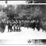 Funeral of Empress Eugenie, the coffin arriving at St Michael's Abbey, followed by Prince Victor Napoleon and his wife