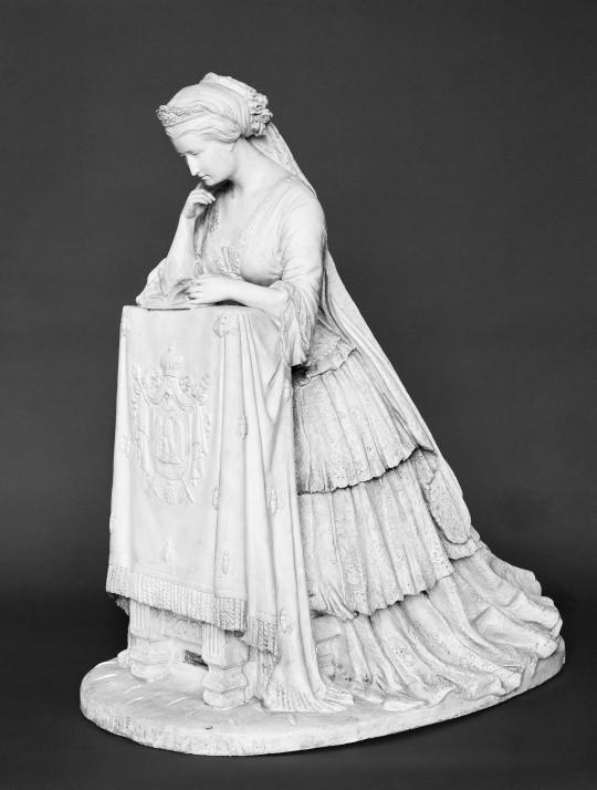 L'impératrice Eugénie priant (Souvenir de Notre-Dame), Marie-Louise Lefèvre-Deumier © RMN-Grand Palais (domaine de Compiègne)