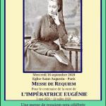Messe de réquiem pour le centenaire de la mort de l'impératrice Eugénie
