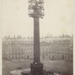 Re-installing the statue of Napoleon I on the Vendôme column, Paris, in 1875