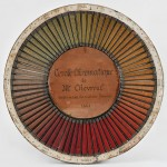 Cercle chromatique renfermant les couleurs franches de M. Chevreul (1861)