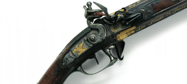Fusil de chasse de Napoléon, signé Jean Le Page (détail)