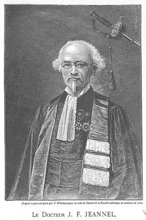 Portrait du docteur J.-F. Jeannel, gravure © BIU Santé de l'université de Paris