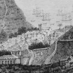 Trésors numériques de Sainte-Hélène : 1. Vue de la rade de Sainte-Hélène, prise de derrière James-Town