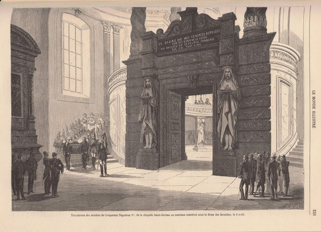 Final burial of the mortal remains of Emperor Napoleon I at the Eglise des Invalides, 2 April 1861