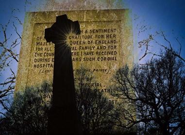 Croix celtique, érigée par les habitants de Chislehurst, sur la Prince Imperial Way © DR