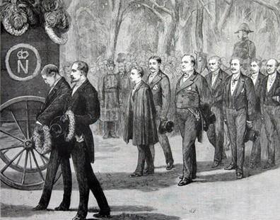 Le convoi funéraire de Napoléon III à Chislehurst © DR