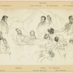 """Explanatory sketch of the painting """"the death of Napoleon"""""""