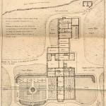 Plan de la maison de Longwood en 1821 au moment de la mort de Napoléon