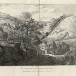 """View of """"Geranium Valley"""" drawn from life, on 8 [sic] May 1821, at the time of Napoleon's burial"""