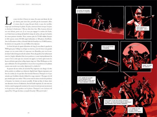 Moi, Napoléon, par V. Mottez et Br. Wennagel (Waterloo, page intérieure) © Unique Heritage Editions 2021