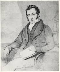 Barry Edward O'Meara, tenant un exemplaire de son ouvrage <i>A Voice From St. Helena</i> (1822), anonyme © DR