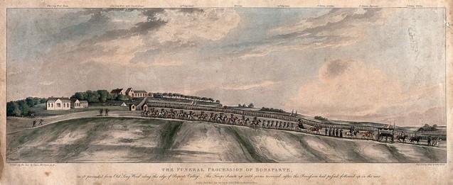 Procession funéraire de Napoléon en 1821