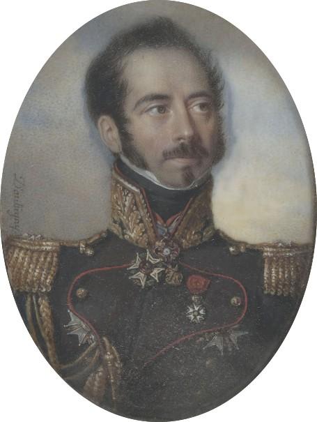 Général baron Gaspard Gourgaud, anonyme © Musée Napoléon de l'Île d'Aix