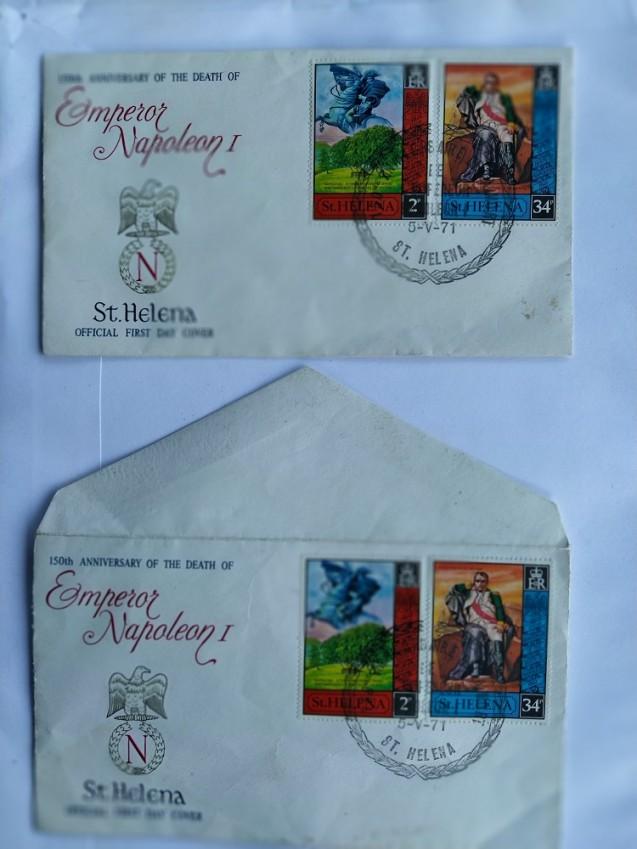 Lettres conservées par M. Gasparini de son escale à Sainte-Hélène pour le centenaire de la mort de l'Empereur © M. Gasparini