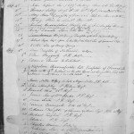 Page from burial register 1820-1831, St Helena, parish of St James, with the record of the Emperor's inhumation