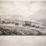 """Sainte-Hélène 9 Mai 1821"" (Funeral procession with a key to people present)"
