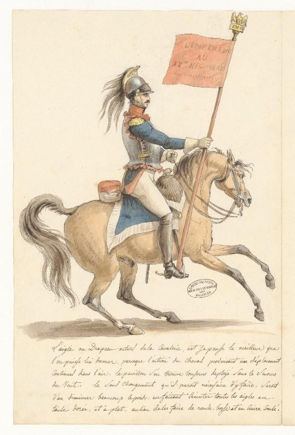 Études autour des projets d'étendards de l'armée, J.-L. David © Archives nationales - 2