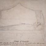 Esquisse de Napoléon sur son lit de mort
