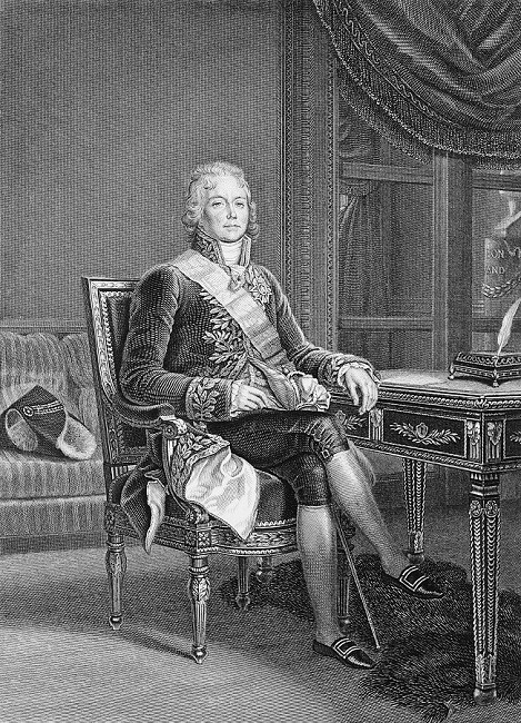 LPY11A00_173 -Charles-Maurice de Talleyrand-Périgord (1792-1838), gravure par Tony Goutière d'après un dessin de Massar, 1861. © Fondation Napoléon, bibliothèque Martial Lapeyre