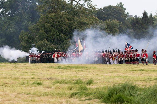 Living History weekend at Hole Park, Kent
