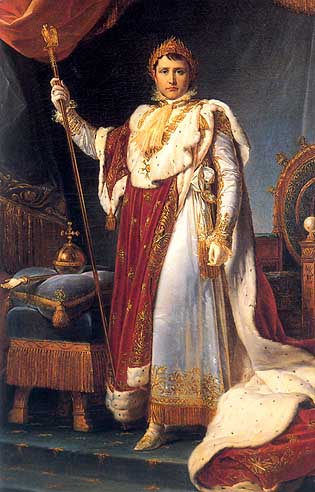 Napoleon in his coronation robes