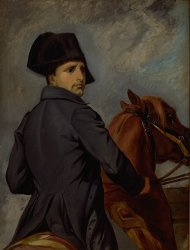 <i>The Emperor Napoleon I on his horse <br>Etude Briest</i>