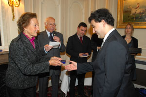 HIH the Princess Napoleon with research grant winner Rapha�l Lahlou � Fondation Napol�on
