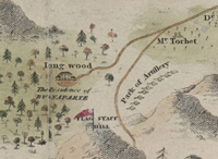 <i>Map of St Helena, 1815 (detail)</i>