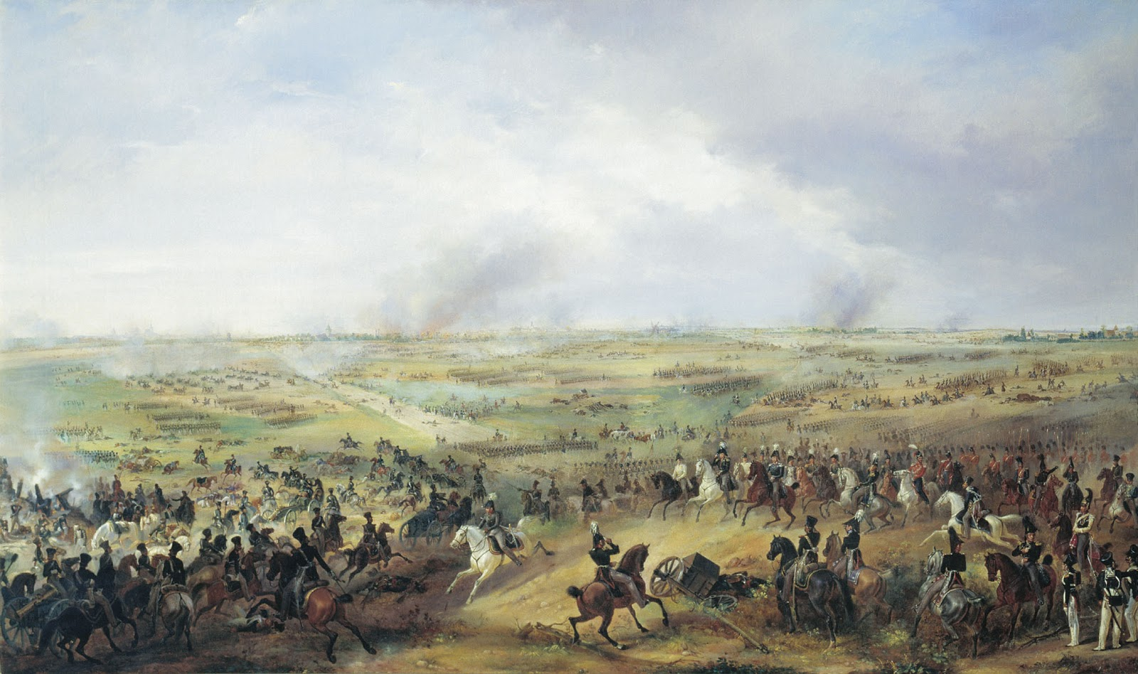 The Battle of Leipzig, Alexander Ivanovich Sauerweid © National Artillery Museum, Russia
