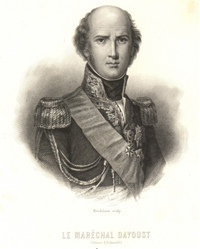 <i>Le Mar�chal Davoust (Prince d'Eckmuhl)</i>. Engraved by Mauduison, ca. 1830.