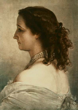 Portrait of Eugenie, Empress of the French, by Winterhalter (1855)